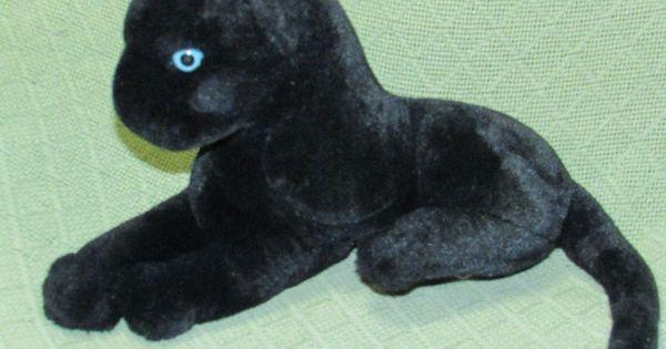 """Black Panther 12"""" BLUE EYES Plush Jaguar Kelly Toys ..."""