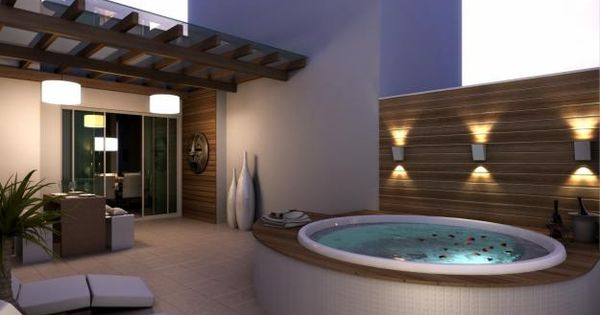 Lighting outdoor wall sconces for the hot tub hot tubs for Jacuzzi exterior pequeno