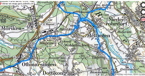 Wohlenschwil Ag Velowege Fahrrad Velotour Mobil Routenplaner