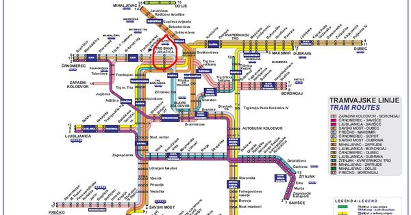 Tram Map Zagreb Croatia Train Map Zagreb Croatia Map