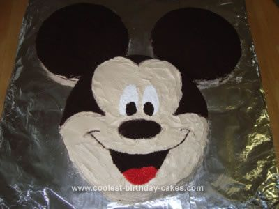 Coolest Mickey Mouse Face Cake Mickey Mouse Birthday Cake