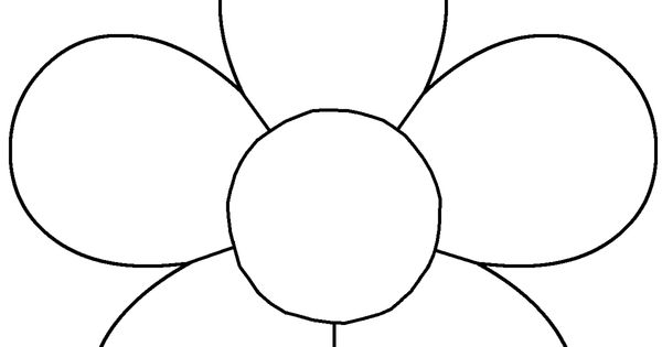 Flower Template For Children's Activities