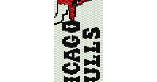 Chicago bulls peyote pattern by mycraftasylum on etsy
