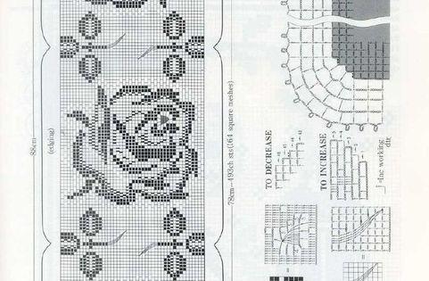 h keln fileth keln tischl ufer rosen crochet tablerunner filet crochet pinterest h keln. Black Bedroom Furniture Sets. Home Design Ideas