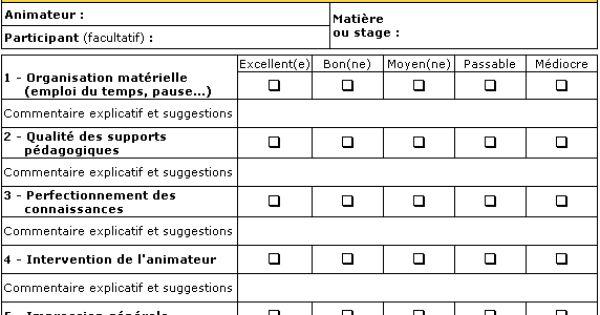 Grille d 39 valuation de la formation univers formateurs grille d 39 valuation pinterest - Grille d evaluation formation ...