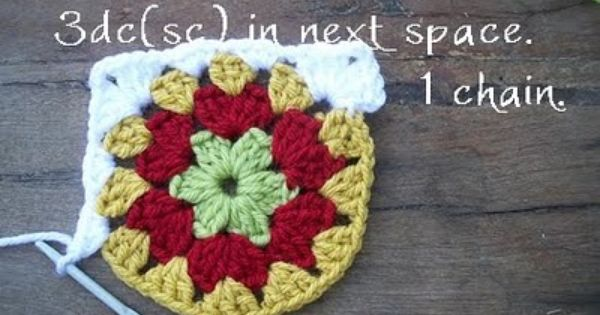 Circle granny squares tutorial
