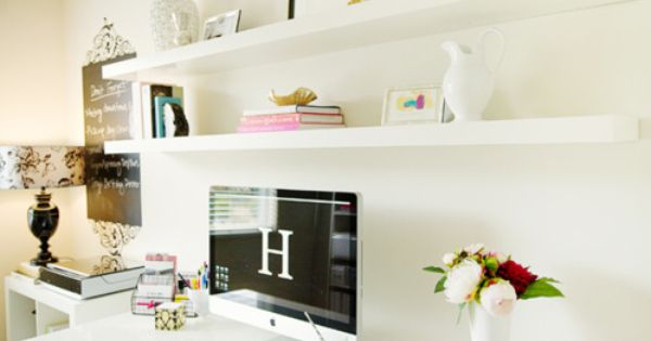 Ideas for home office space - more feminine version and I love