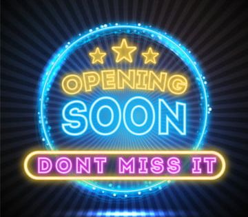 Opening Soon With Creative Blue Neon Light Frame Grand Opening Open Neon Png And Vector With Transparent Background For Free Download Blue Neon Lights Neon Grand Opening