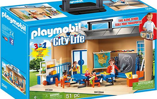 Playmobil 5941 Mitnehm Schule Playmobil City Life Playmobil Play Mobile Schule