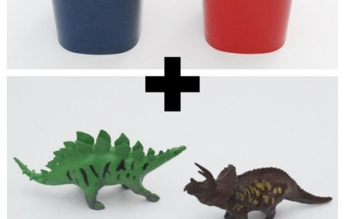 Use inexpensive plastic tumblers and plastic dinosaurs to make these awesome DIY