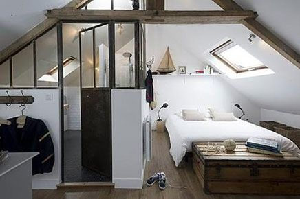 schlafzimmer im dachgeschoss masion le matelot wohnideen einrichten room impressions pinterest interieur tren und dachgeschoss schlafzimmer - Dachgeschoss Schlafzimmer Einrichten