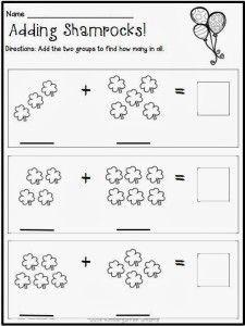 Kindergarten Math Worksheets St Patricks Day With A Freebie March Kindergarten Kindergarten Addition Worksheets Kindergarten Activities