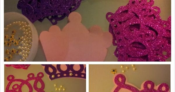 Easy DIY Crown invitations for Princess Birthday Party - gold crown for