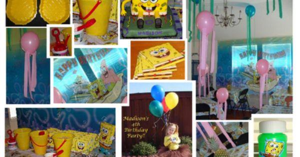 Birthday Party, Fan site - Spongebob Birthday Party Ideas, Spongebob ...