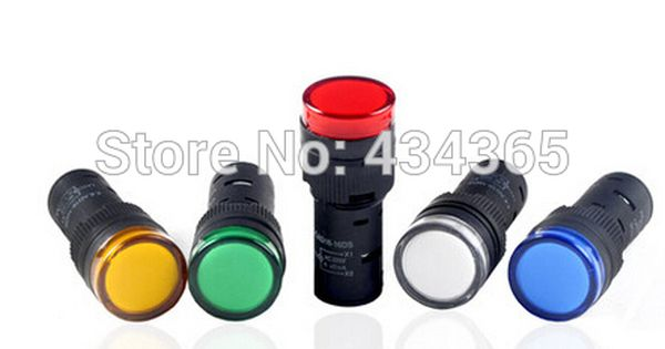 Pilot Lamp 10pcs 24v 16mm Led Indicator Signal Lamp Ad16 16c Colour Green Yellow Red Blue White Red Green Yellow
