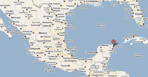Our interactive map of Cancun Mexico lets you view traffic and – Map Cancun Mexico Surrounding Area