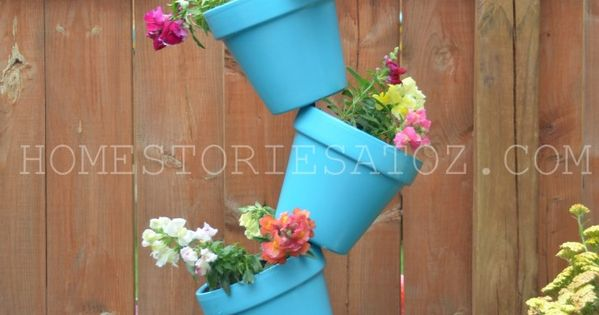 Awesome DIY planter and birdbath... No bird bath, spring break project