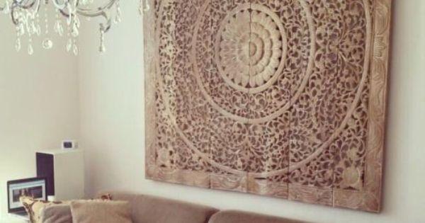 Simply pure houtsnijwerk wandpaneel 180x180 cm kleur whitewash simply pure houtsnijwerk - Deco keuken kleur ...