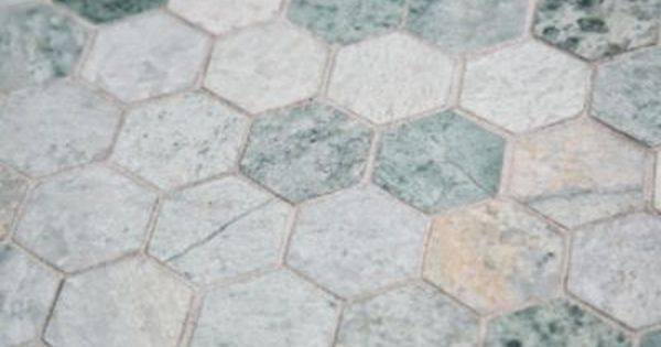 Caribbean Green Hexagon Marble Mosaic Floor Decor Shower Remodel Shower Remodel Diy Shower Floor
