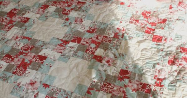 Winter S Lane Christmas Quilt Using A Jelly Roll I Wish I