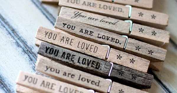 Quote wooden pegs - i love this idea for daniel :) or