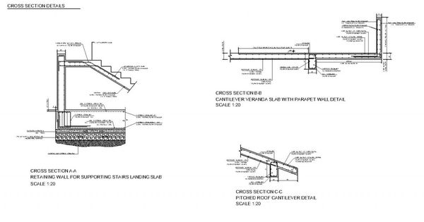 Complete Structural Design Drawings Of A Reinforced Concrete House Concrete House Reinforced Concrete Concrete