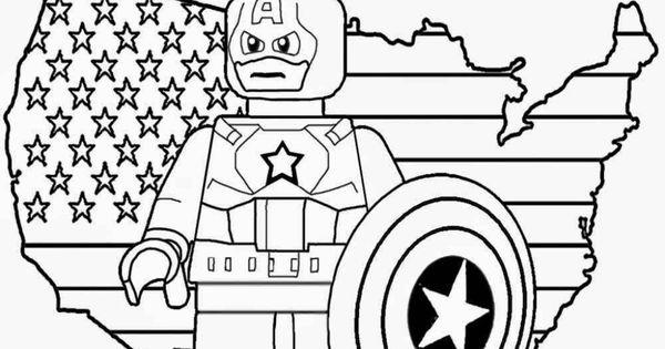 Printable Lego Marvel Superheroes Captain America Coloring: Printable Lego Marvel Superheroes Captain America Coloring