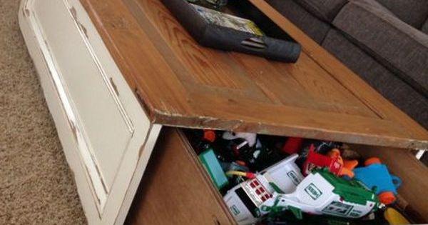 20 clever hidden storage ideas diy coffee table hidden for Diy hidden storage