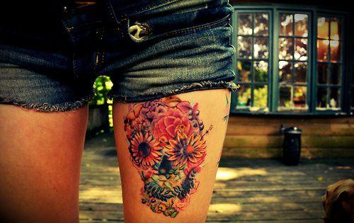 Flower Skull Tattoo | Ruth Tattoo Ideas