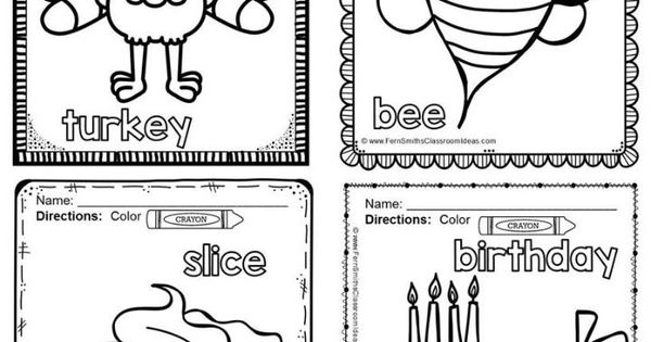 Coloring Pages For Vowels : Long vowels coloring pages and
