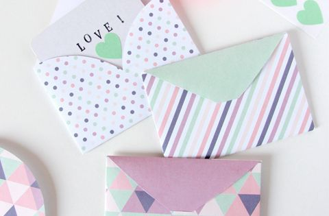 Cute envelope templates