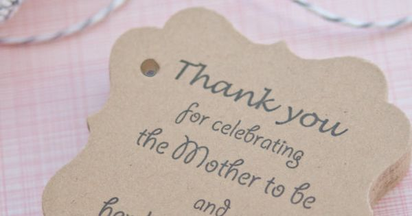 Baby Shower Gift TagsBaby Shower Paper by SomethingwithLove