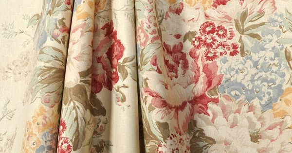 Ralph lauren angela floral cream fabric floral fabric for Angela florist decoration
