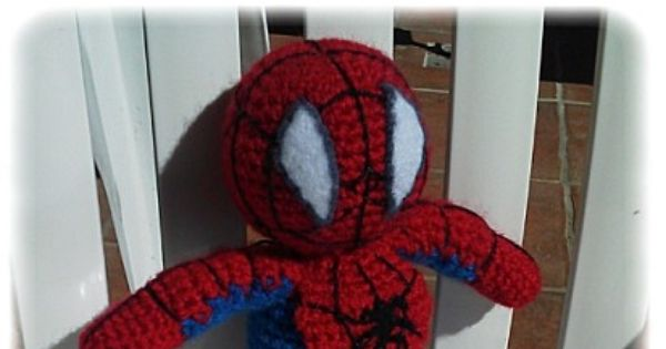 Amigurumi Spiderman Patron : Spiderman au crochet, Patron Gratuit - Free crochet ...