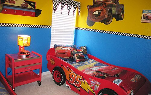 Disney cars room decor!! My boy would love this!!!