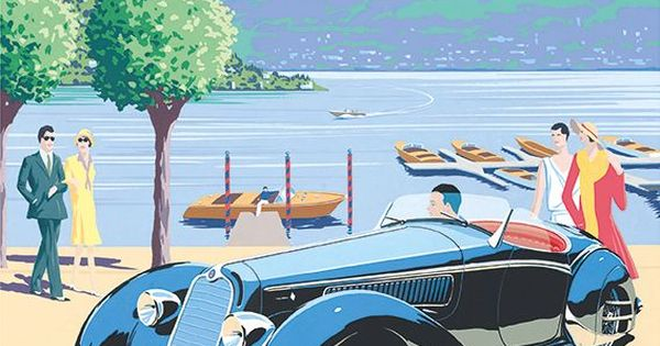 PEL405: 'Alfa Romeo 8C-2900 – Lake Como' by Charles Avalon - Vintage