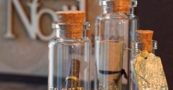 mini fiole en verre 8 fioles fiole en verre fiole et. Black Bedroom Furniture Sets. Home Design Ideas
