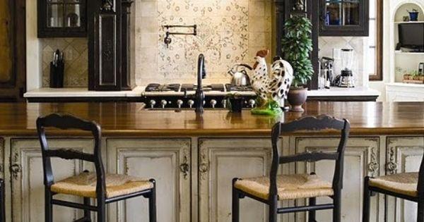 Distressed kitchen Cabinets Kitchen Design Ideas Pinterest