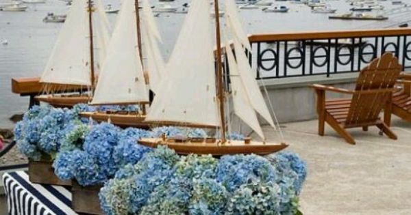 Sailboat Deck Decor Nautical Theme Pinterest Decking