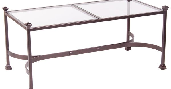 Another Fairly Expensive Glass Top And Metal Base Have To Have It O W Lee Palazzo Glass Top