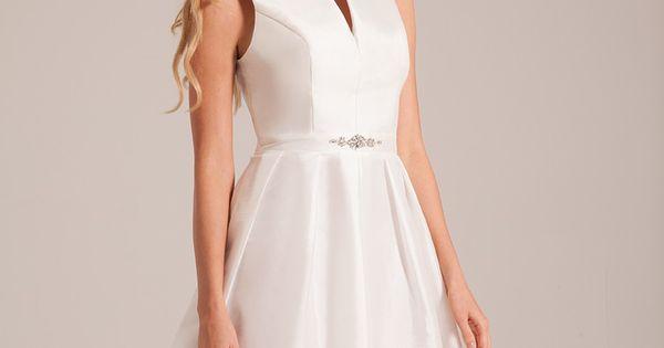 robe de mariée courte buste montant  Collection 2017 de robes de ...