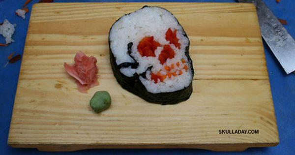 Skull sushi roll