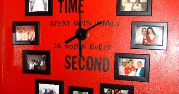 "Not crazy about the red wall, but the ""Time Spent With Family"