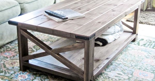 Super cute, DIY, FREE rustic end table plan :: Ana White |