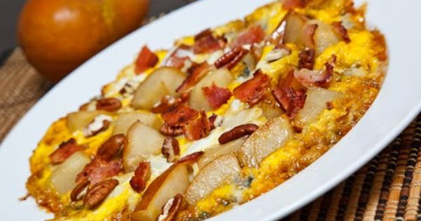 Caramelized Apple And Gorgonzola Omelette With Bacon And Pecans Recipe ...