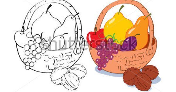 fruit basket drawing - Google Search | Pastel | Pinterest