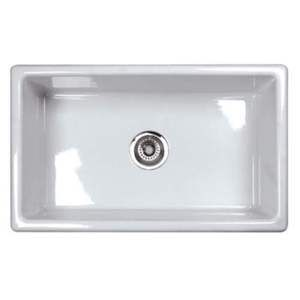 Rum3018wh Shaws Fireclay White Color Undermount Single Bowl