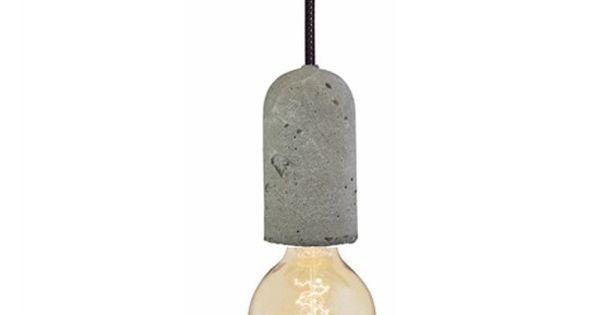 betonnen lampje nud collection zwart lampen. Black Bedroom Furniture Sets. Home Design Ideas