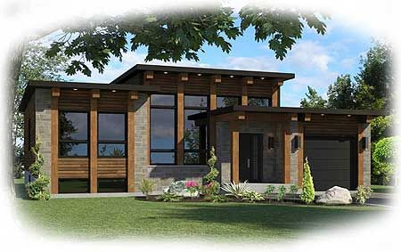 Plan 90267pd Small Scale Modern House Plan In 2021 Contemporary House Plans Modern House Plan Architectural Design House Plans