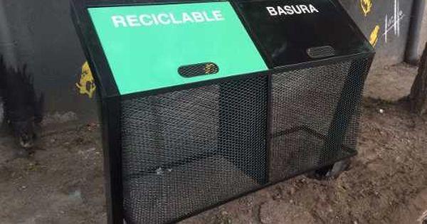 Cesto Canasto Hierro Basura Separacion De Residuos Exterior Canasto De Basura Tachos De Basura Contenedores De Basura